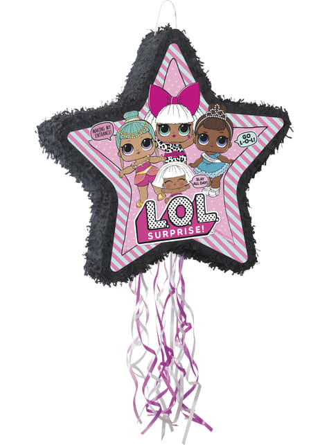 Piñata con forma de estrella LOL Surprise - LOL Friends
