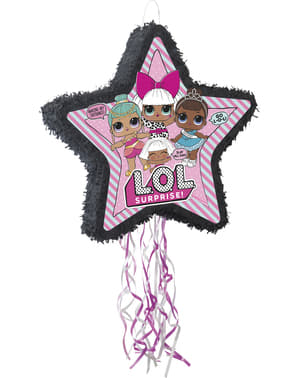 Piňata ve tvaru LOL Surprise hvězdy