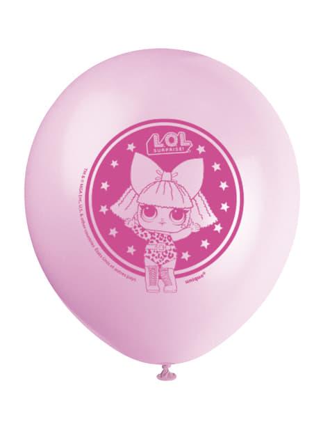 8 globos de látex LOL Surprise (47cm) - LOL Friends