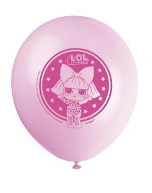 8 LOL Yllätys -lateksi-ilmapalloa