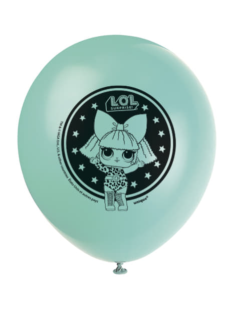 8 globos de látex LOL Surprise (47cm) - LOL Friends - para tus fiestas