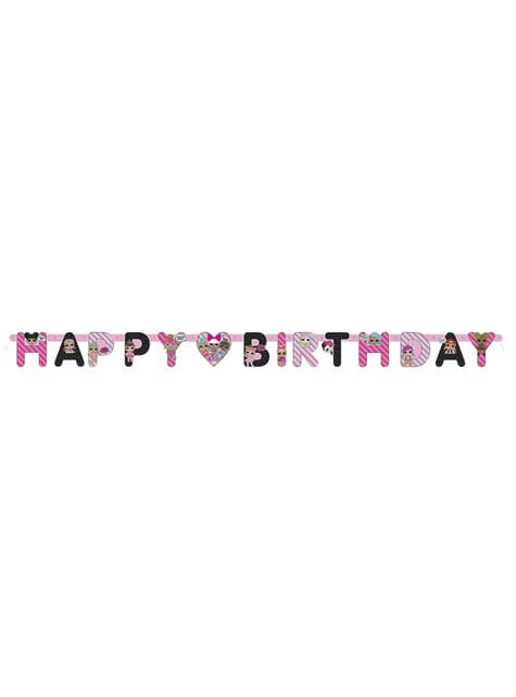 Grinalda feliz aniversário LOL Surprise - LOL Friends