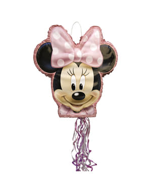 Rozā Minnie Mouse pinata