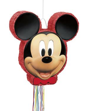 Piñata röd Musse Pigg