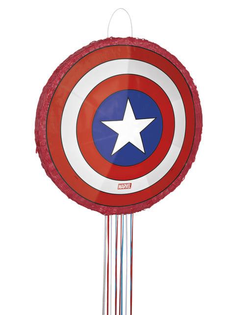 Piñata escudo Capitán América