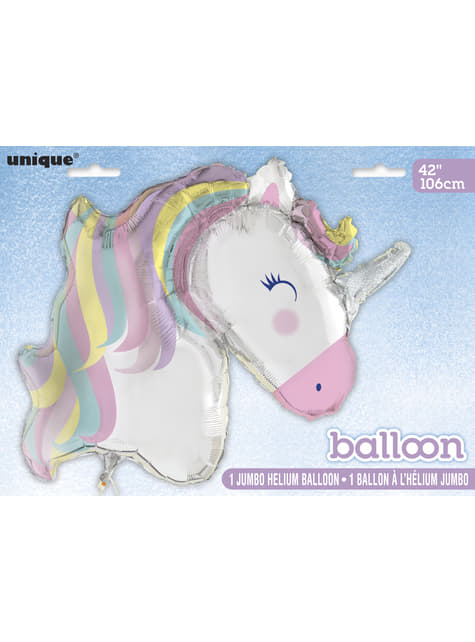 Ballon en aluminium Happy Licorne