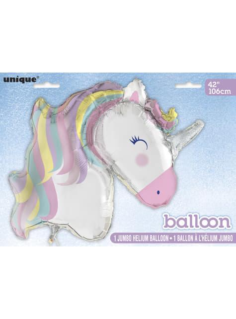 Globo de foil de unicornio (106cm) - Happy Unicorn - para tus fiestas