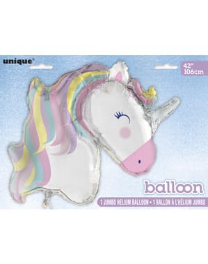 Ballon en aluminium Happy Licorne