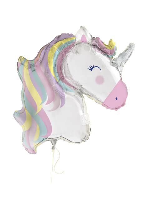 Globo de foil de unicornio (106cm) - Happy Unicorn