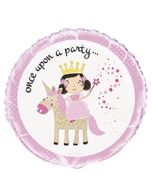 Prinsessa -Pyöreä Folioilmapallo - Magical Unicorn