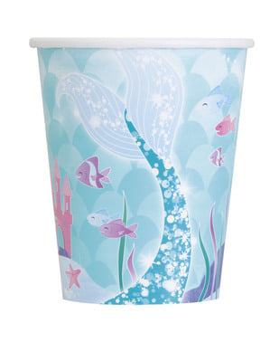 8 mermaid cups - Mermaid under the sea