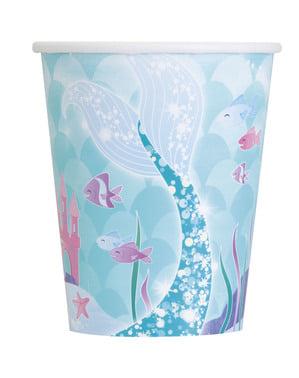 סט 8 כוסות בת ים - בת ים מתחת לים