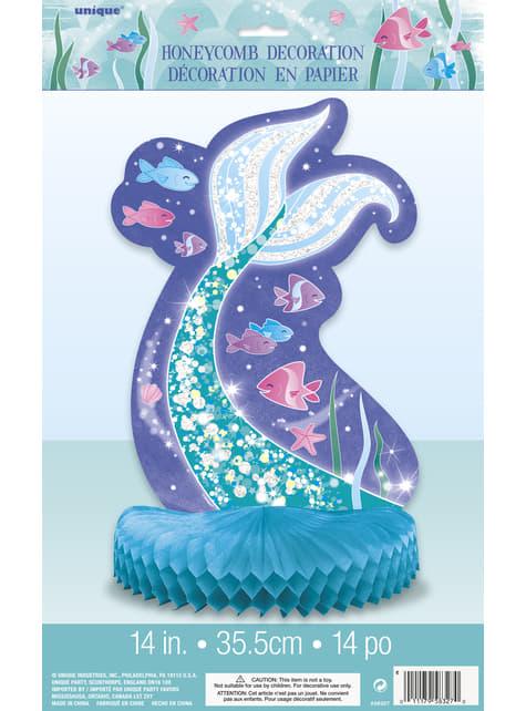 Decoración de mesa cola de sirena - Sirena bajo del mar - para tus fiestas
