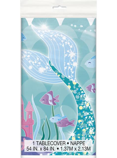 Mantel cola de sirena - Sirena bajo del mar - para tus fiestas