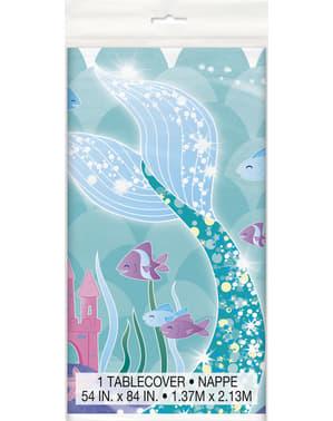 Toalha de mesa cauda de sereia - Sereia debaixo do mar
