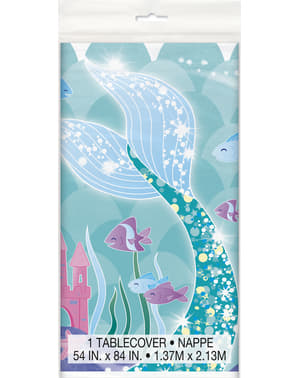 Zeemeermin staart tafelkleed - Zeemeermin onder de zee