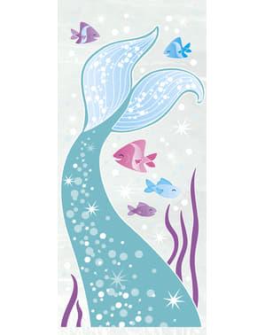 20 bolsas para chucherías cola de sirena - Sirena bajo del mar