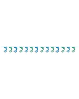 光沢のある人魚の尾ガーランド - 海の下の人魚