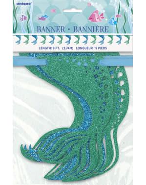 Guirnalda de colas de sirena brillantes - Sirena bajo del mar