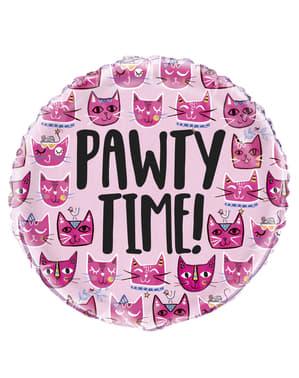 Ballon alu chats roses - Lets Pawty