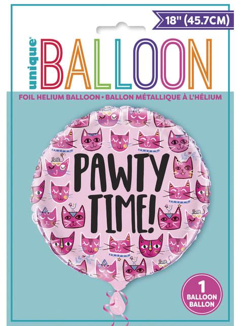 Globo de foil let's pawt - Gatos rosas - para tus fiestas