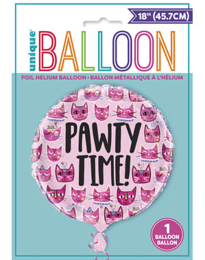 Pawty Time Cat Balloon - Lets Pawty
