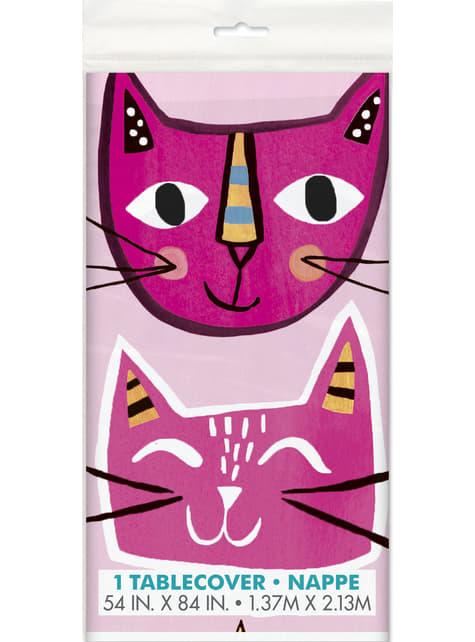 Mantel - Gatos rosas