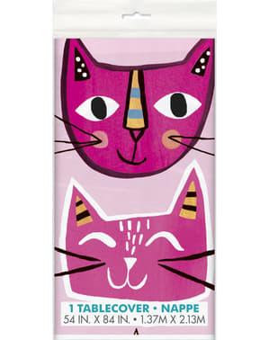 Mantel de gatos - Gatos rosas