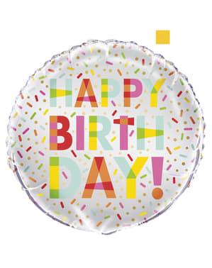 Happy Birthday folieballon - Donut Feest