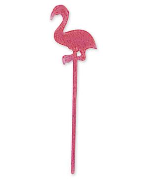 Sett med 24 flamingo pinner
