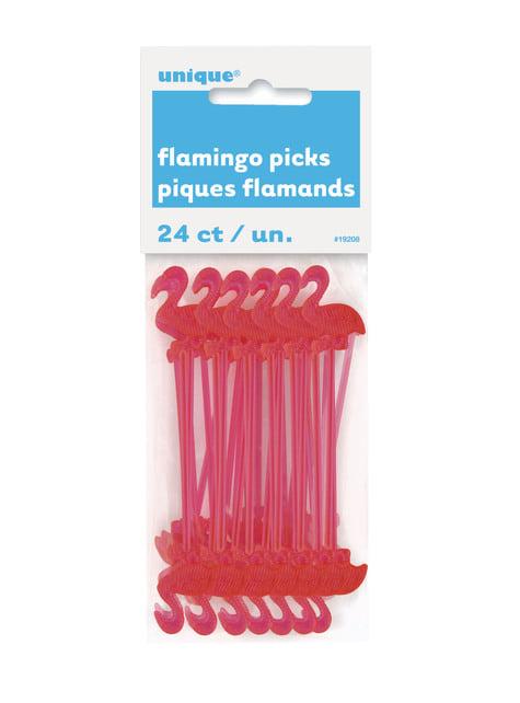 Conjunto de 24 sticks de flamingo