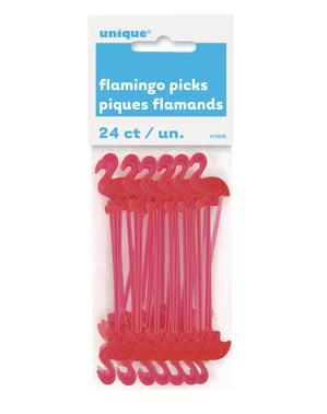 24 flamingo stokjes