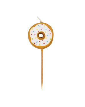 6 vela (7 cm) - Donut Party
