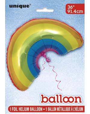 Ballon en aluminium arc-en-ciel