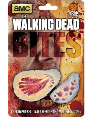 Prótesis de látex mordiscos sangrientos The Walking Dead
