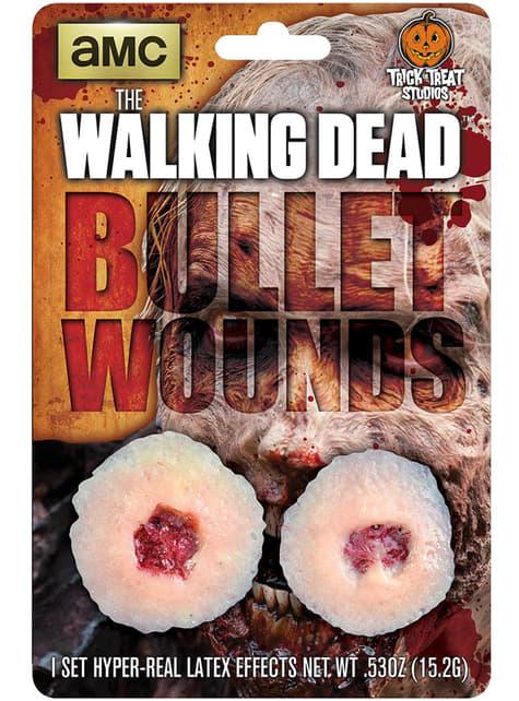 Prótesis de látex agujeros de bala The Walking Dead