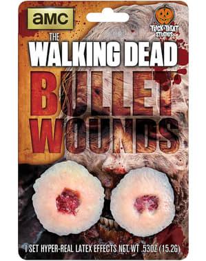 Prótese em látex buracos de bala The Walking Dead