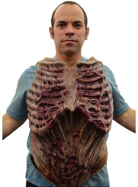 Prothèse zombie pour la poitrine The Walking Dead