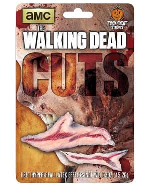Prótesis de látex cortes sangrientos The Walking Dead