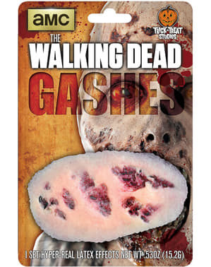 Prothèse de latex griffures sanglantes The Walking Dead