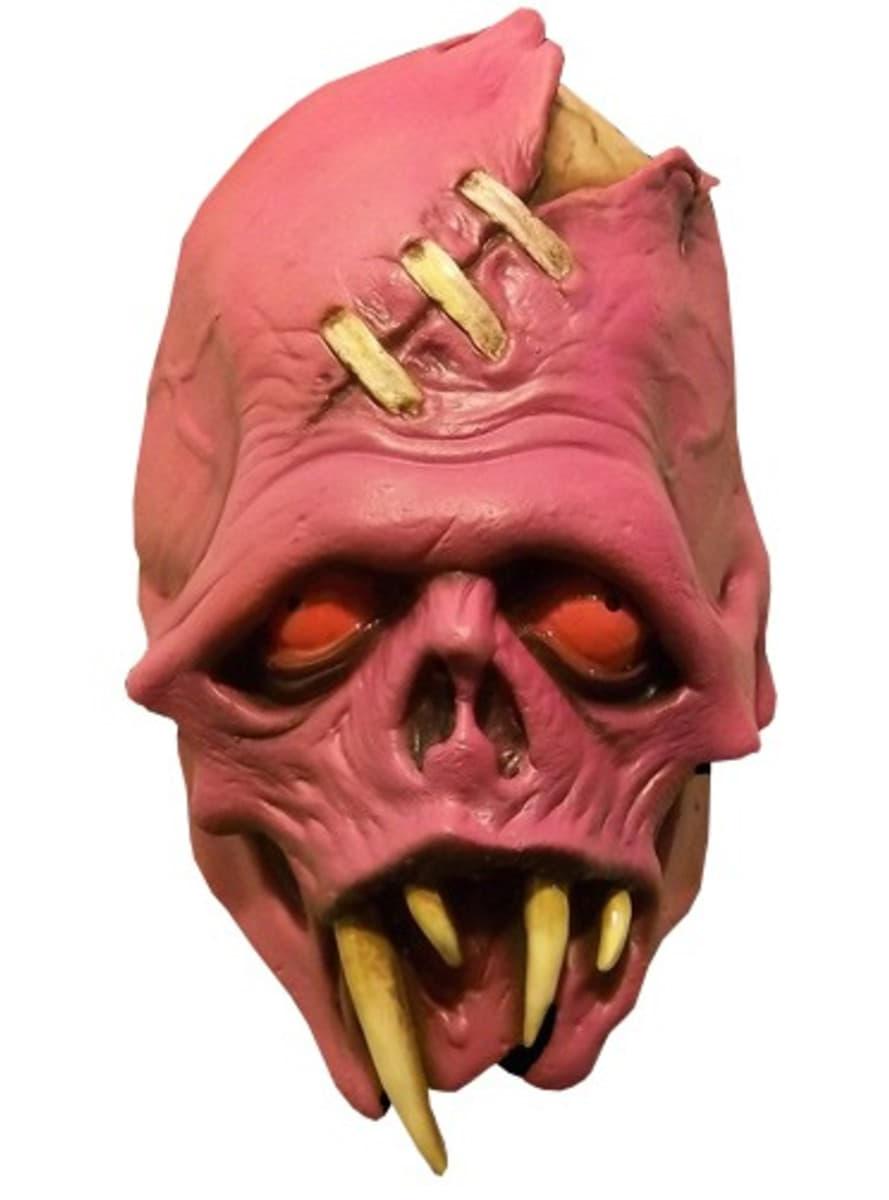M scara de colmillo del terror rosa disfraz funidelia - Mascaras de terror ...