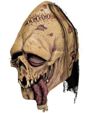 Zombie med knute på tungen maske