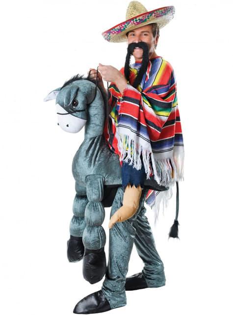 Disfraz de mexicano en burro