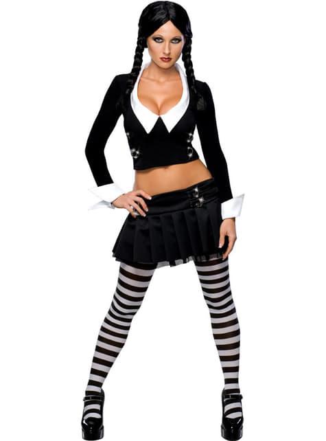 Disfraz de Miércoles Familia Addams sexy