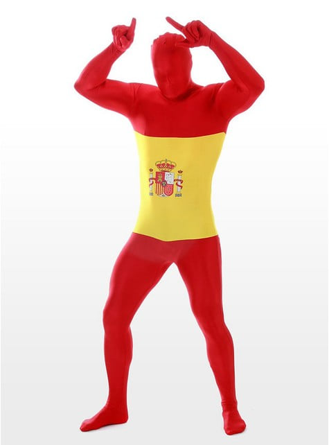 Spanish Flag Adult Morphsuit Costume