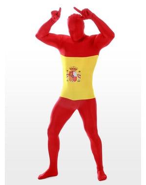 Spansk flag udklædning Morphsuit