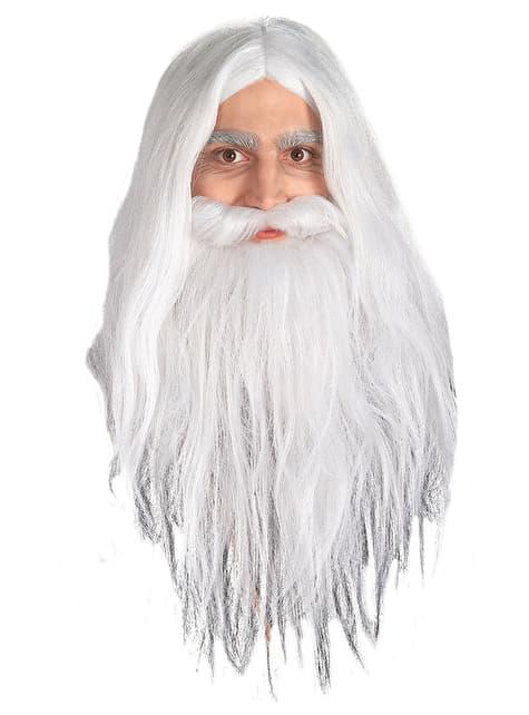 Peluca y barba de Gandalf