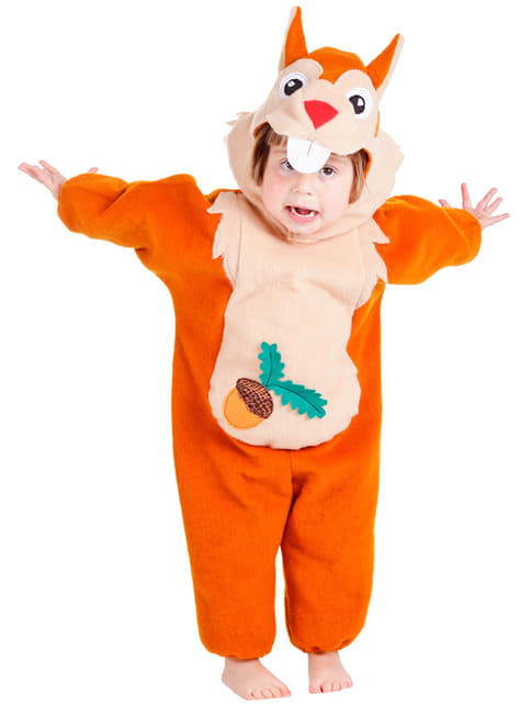 Squirrel costume for a toddler