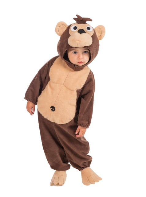 Monkey costume with a hood for a toddler