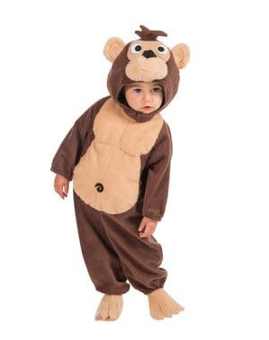 Маймунски костюм с качулка за малко дете